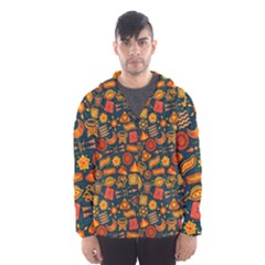 Pattern Background Ethnic Tribal Hooded Wind Breaker (men)