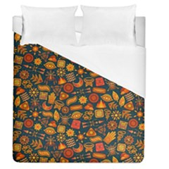 Pattern Background Ethnic Tribal Duvet Cover (queen Size) by BangZart