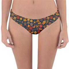 Pattern Background Ethnic Tribal Reversible Hipster Bikini Bottoms by BangZart
