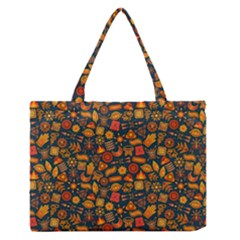 Pattern Background Ethnic Tribal Medium Zipper Tote Bag