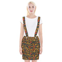 Pattern Background Ethnic Tribal Braces Suspender Skirt