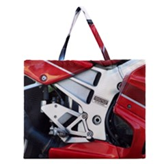 Footrests Motorcycle Page Zipper Large Tote Bag by BangZart