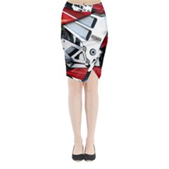 Footrests Motorcycle Page Midi Wrap Pencil Skirt