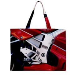 Footrests Motorcycle Page Medium Zipper Tote Bag