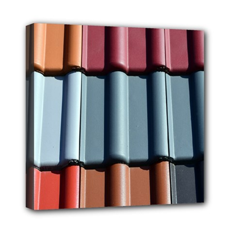 Shingle Roof Shingles Roofing Tile Mini Canvas 8  X 8  by BangZart