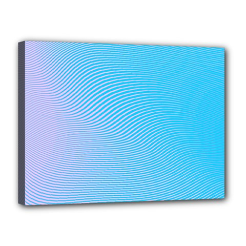 Background Graphics Lines Wave Canvas 16  X 12  by BangZart