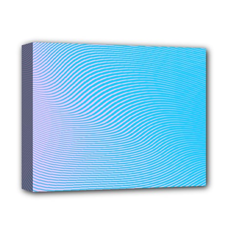 Background Graphics Lines Wave Deluxe Canvas 14  X 11