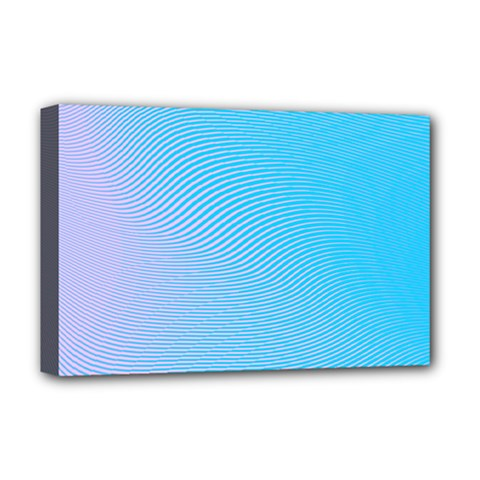 Background Graphics Lines Wave Deluxe Canvas 18  X 12   by BangZart
