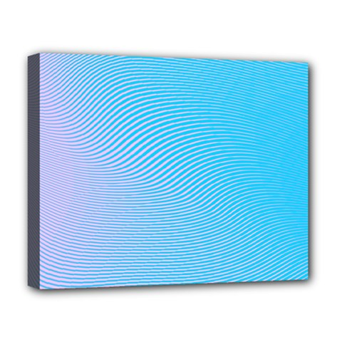 Background Graphics Lines Wave Deluxe Canvas 20  X 16   by BangZart