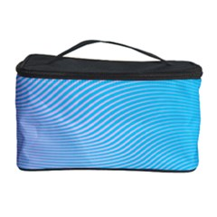 Background Graphics Lines Wave Cosmetic Storage Case by BangZart