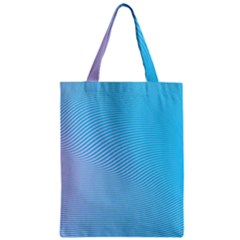 Background Graphics Lines Wave Zipper Classic Tote Bag by BangZart