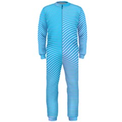 Background Graphics Lines Wave Onepiece Jumpsuit (men)