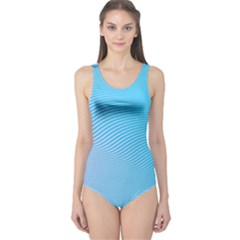 Background Graphics Lines Wave One Piece Swimsuit