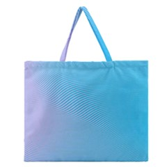 Background Graphics Lines Wave Zipper Large Tote Bag by BangZart