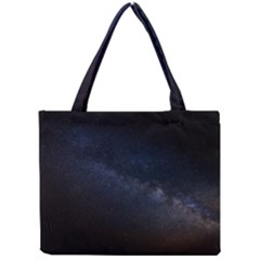 Cosmos Dark Hd Wallpaper Milky Way Mini Tote Bag by BangZart
