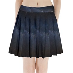 Cosmos Dark Hd Wallpaper Milky Way Pleated Mini Skirt