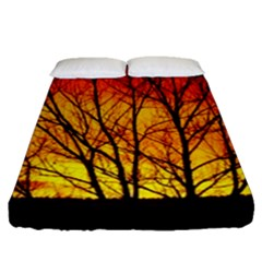 Sunset Abendstimmung Fitted Sheet (queen Size)
