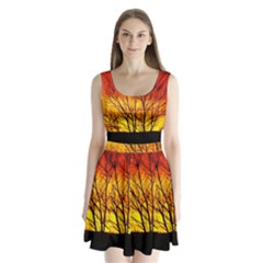 Sunset Abendstimmung Split Back Mini Dress