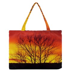 Sunset Abendstimmung Medium Zipper Tote Bag