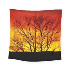 Sunset Abendstimmung Square Tapestry (small)