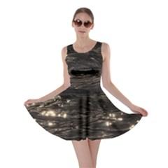 Lake Water Wave Mirroring Texture Skater Dress