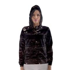 Lake Water Wave Mirroring Texture Hooded Wind Breaker (women)