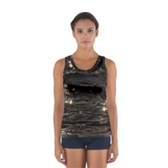 Lake Water Wave Mirroring Texture Women s Sport Tank Top