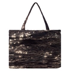 Lake Water Wave Mirroring Texture Medium Zipper Tote Bag