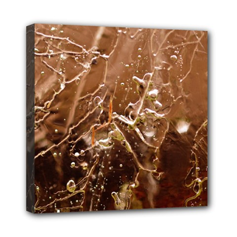 Ice Iced Structure Frozen Frost Mini Canvas 8  X 8  by BangZart