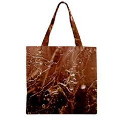 Ice Iced Structure Frozen Frost Zipper Grocery Tote Bag by BangZart