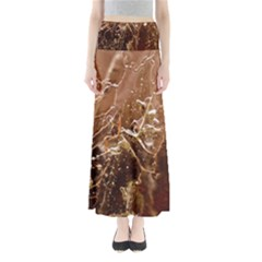 Ice Iced Structure Frozen Frost Full Length Maxi Skirt