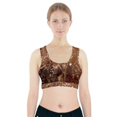 Ice Iced Structure Frozen Frost Sports Bra With Pocket