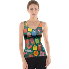 Presents Gifts Background Colorful Tank Top