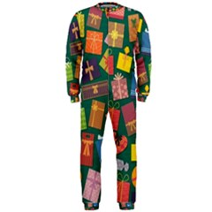 Presents Gifts Background Colorful Onepiece Jumpsuit (men)
