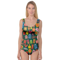 Presents Gifts Background Colorful Princess Tank Leotard