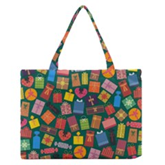 Presents Gifts Background Colorful Medium Zipper Tote Bag
