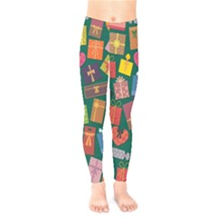 Presents Gifts Background Colorful Kids  Legging