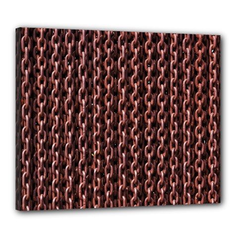 Chain Rusty Links Iron Metal Rust Canvas 24  X 20  by BangZart