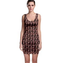 Chain Rusty Links Iron Metal Rust Sleeveless Bodycon Dress