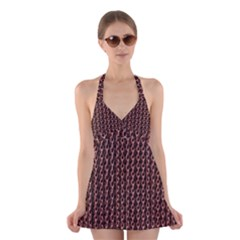 Chain Rusty Links Iron Metal Rust Halter Swimsuit Dress