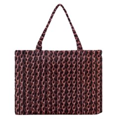 Chain Rusty Links Iron Metal Rust Medium Zipper Tote Bag