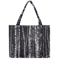 Birch Forest Trees Wood Natural Mini Tote Bag