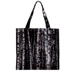 Birch Forest Trees Wood Natural Zipper Grocery Tote Bag by BangZart
