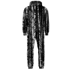 Birch Forest Trees Wood Natural Hooded Jumpsuit (men)  by BangZart