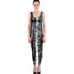 Birch Forest Trees Wood Natural Onepiece Catsuit by BangZart