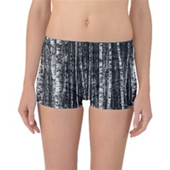 Birch Forest Trees Wood Natural Boyleg Bikini Bottoms