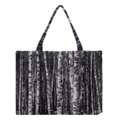 Birch Forest Trees Wood Natural Medium Tote Bag by BangZart
