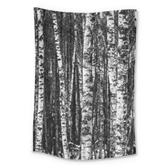Birch Forest Trees Wood Natural Large Tapestry by BangZart