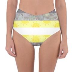 Cute Flag Reversible High Waist Bikini Bottoms by TransPrints