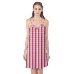 Usa Flag Red Blood Large Gingham Check Camis Nightgown